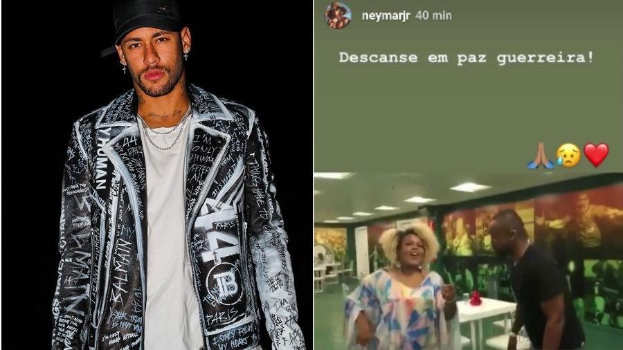 Neymar homenageia Deise, do Fat Family, em seu Instagram - Reprodução/Instagram