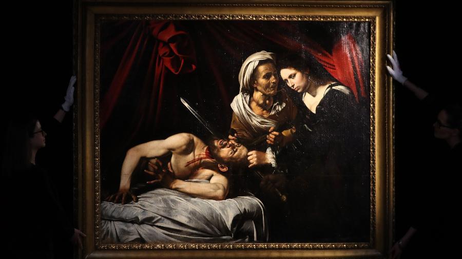 Pintura atribuída a Caravaggio foi revelada em Londres - Daniel Leal-Olivas/AFP
