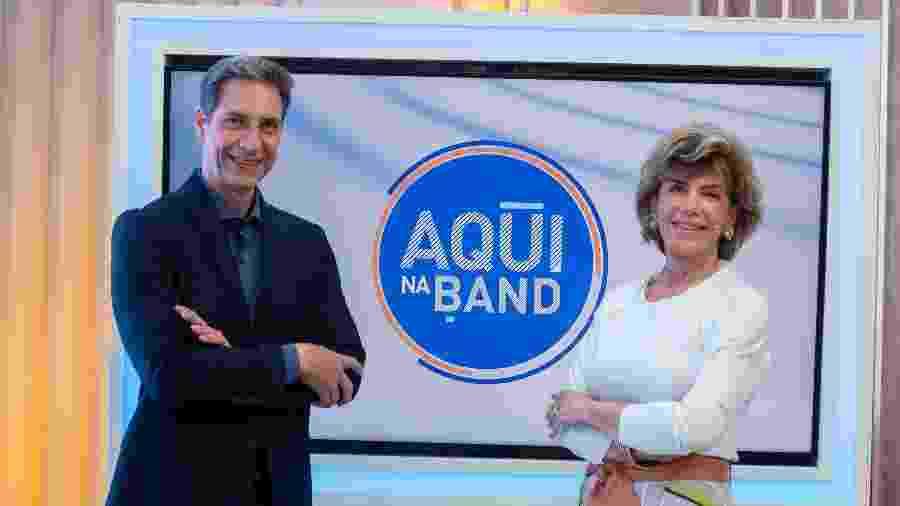 Luis Ernesto Lacombe e Silvia Poppovic - Divulgação Band