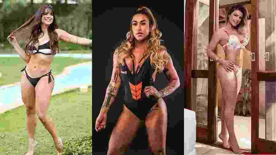 As ex-panicats Carol Dias, Dani Bolina e Babi Rossi (da esq. para dir.) - Reprodução/Instagram e Divulgação