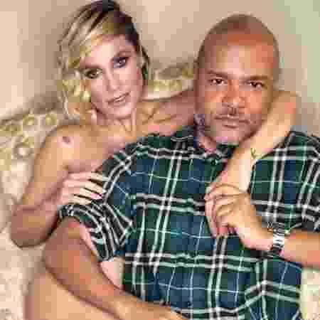 Ale de Souza com a atriz Flávia Alessandra: casamento de maquiador das globais tem lista repleta de famosas - Reprodução/Instagram