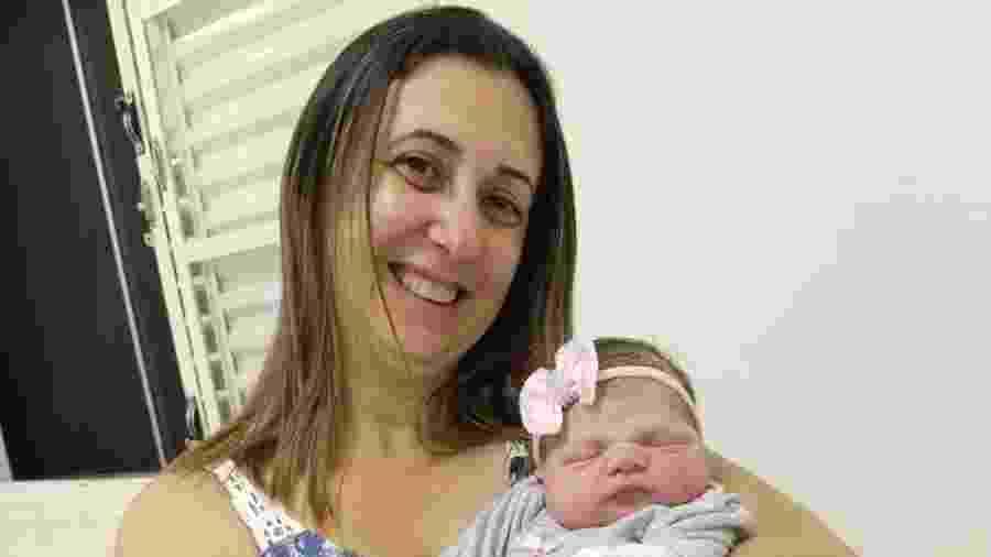 Antonella nasceu na Santa Casa de Misericórdia de Itapira, dia 11, pesando 3, 450 kg e medindo 48 cm - Acervo Pessoal