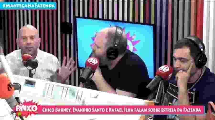 Rafael Ilha no programa Pânico, da Rádio Jovem Pan - Reprodução/YouTube/Pânico Jovem Pan