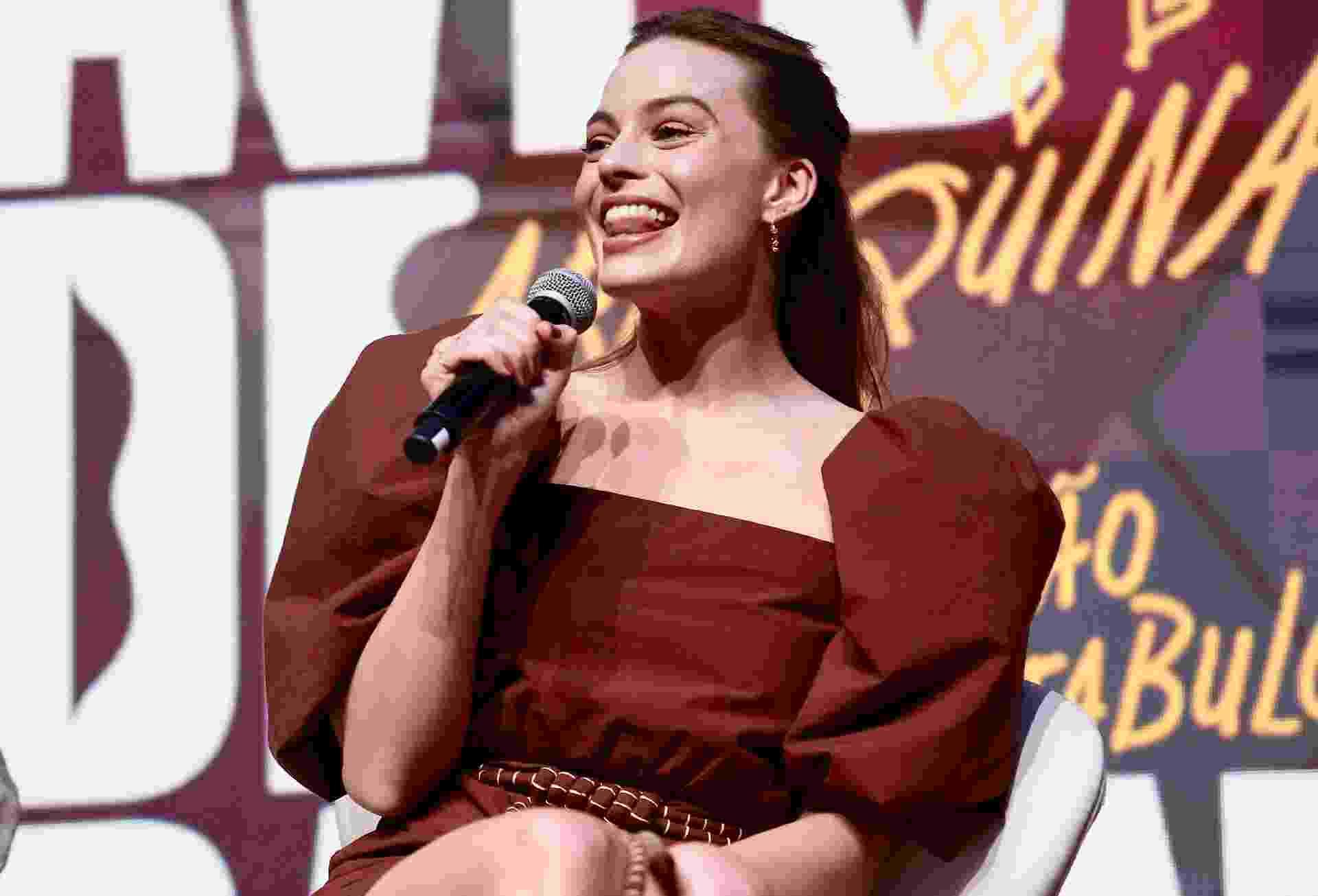 Margot Robbie no painel de Aves de Rapina, da Warner, na CCXP 2019 - Iwi Onodera/UOL