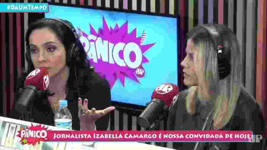 Jornalista Izabella Camargo participa do Programa Pânico - Reprodução