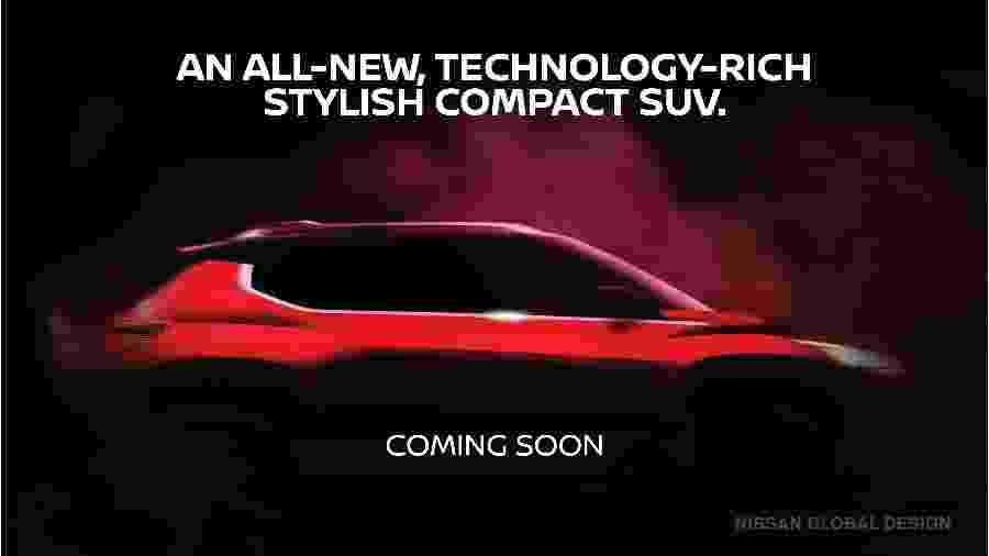 Teaser de SUV compacto da Nissan - Divulgação