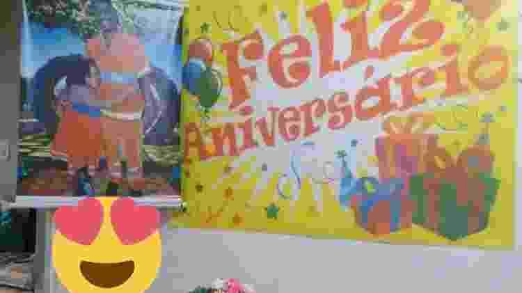 Decoração da festinha foi feita por Lucia Lemos, mãe da menina - Arquivo Pessoal