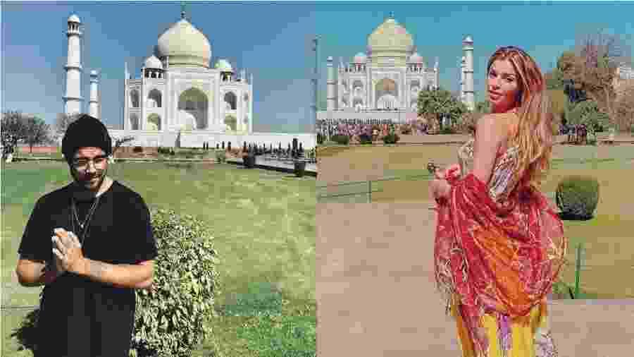 Caio Castro e Grazi Massafera posaram em frente ao Taj Mahal, na Índia - Reprodução/Instagram