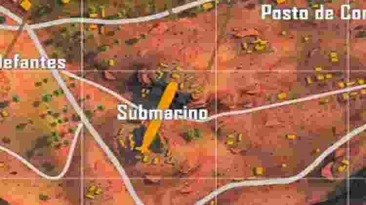 Free Fire Submarino - Reprodução - Reprodução