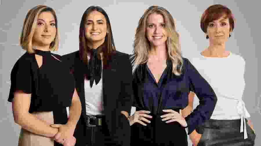 Daniela Lima (apresentadora), Mari Palma, Gabriela Prioli e Thais Herédia, da CNN Brasil - Divulgação/CNN Brasil