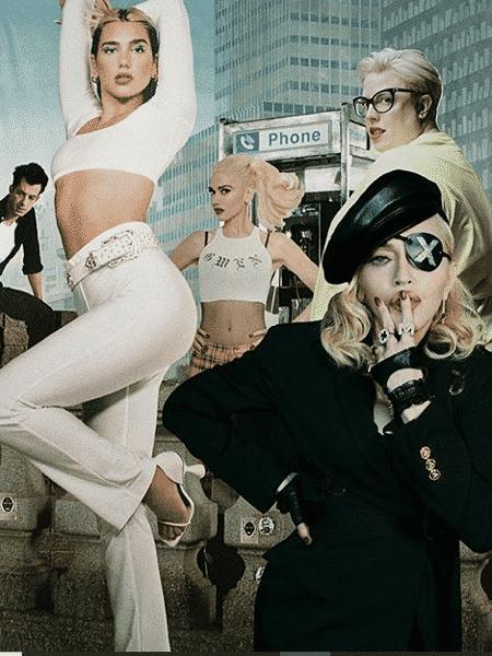 """Arte usada por Dua Lipa para anunciar o álbum """"Club Future Nostalgia"""" - Reprodução / Instagram"""