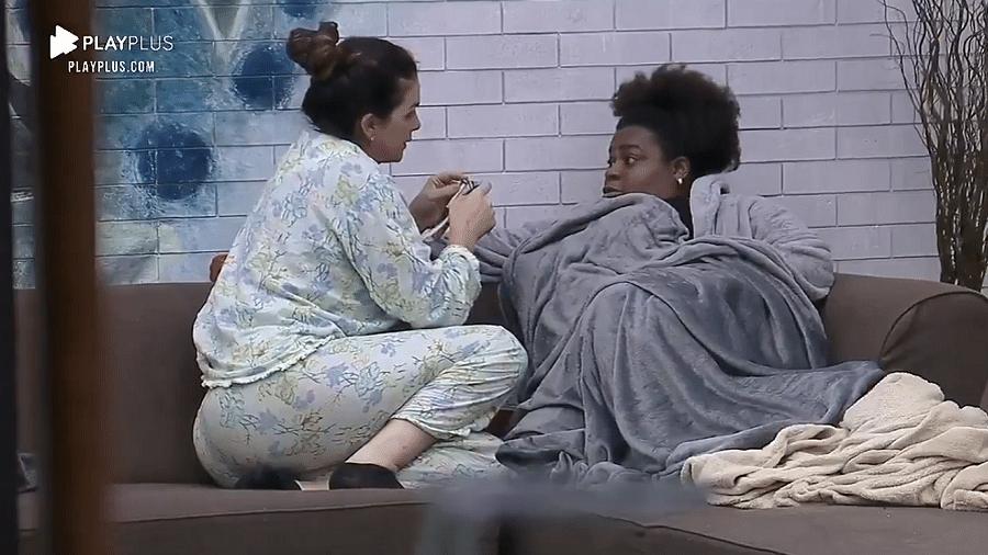 """Jojo Todynho aconselhou Luiza Ambiel a focar no seu jogo em """"A Fazenda 12"""" - Reprodução/PlayPlus"""