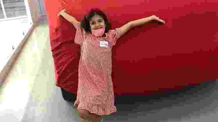 Marina, de seis anos, recebe conserto de Amarok no Dia das Crianças - Arquivo Pessoal - Arquivo Pessoal