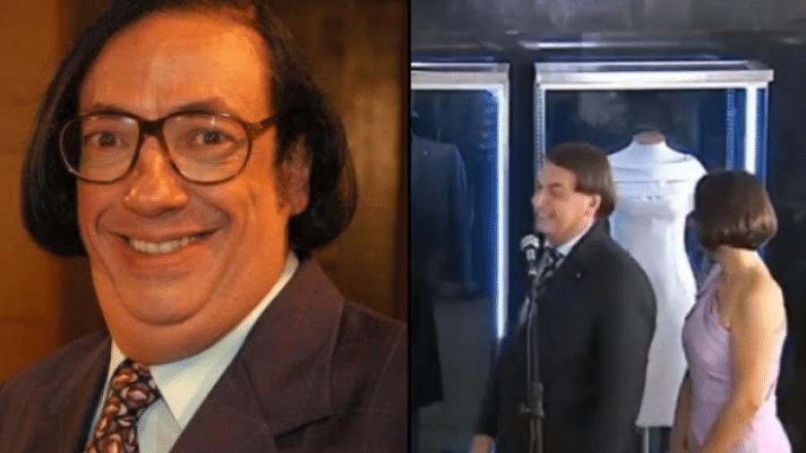O personagem Beiçola, interpretado por Marcos Oliveira, e o presidente Jair Bolsonaro - Reprodução/Twitter