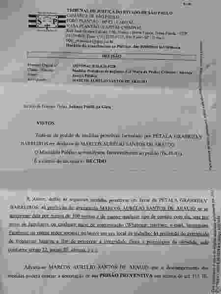 Documento postado por Pétala Barreiros no Instagram - Reprodução/Instagram - Reprodução/Instagram