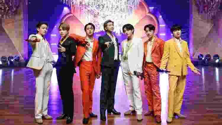 Os integrantes do BTS antes da performance no Grammy - Reprodução - Reprodução