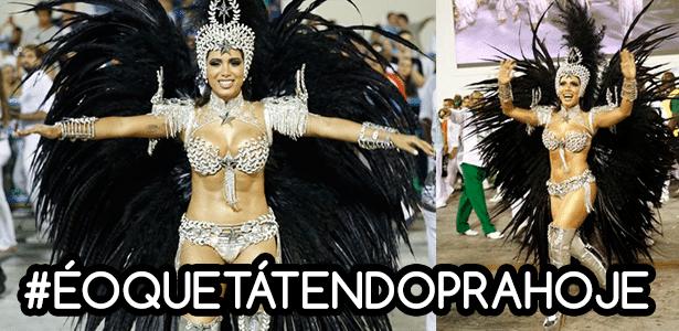 Anitta desfila na Sapucaí