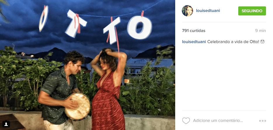 21.fev.2016 - Sophie Charlotte e Daniel de Oliveira fizeram uma festa de chá de bebê para o primeiro filho, Otto, neste domingo. Amigos dos atores compartilharam alguns momentos nas redes sociais