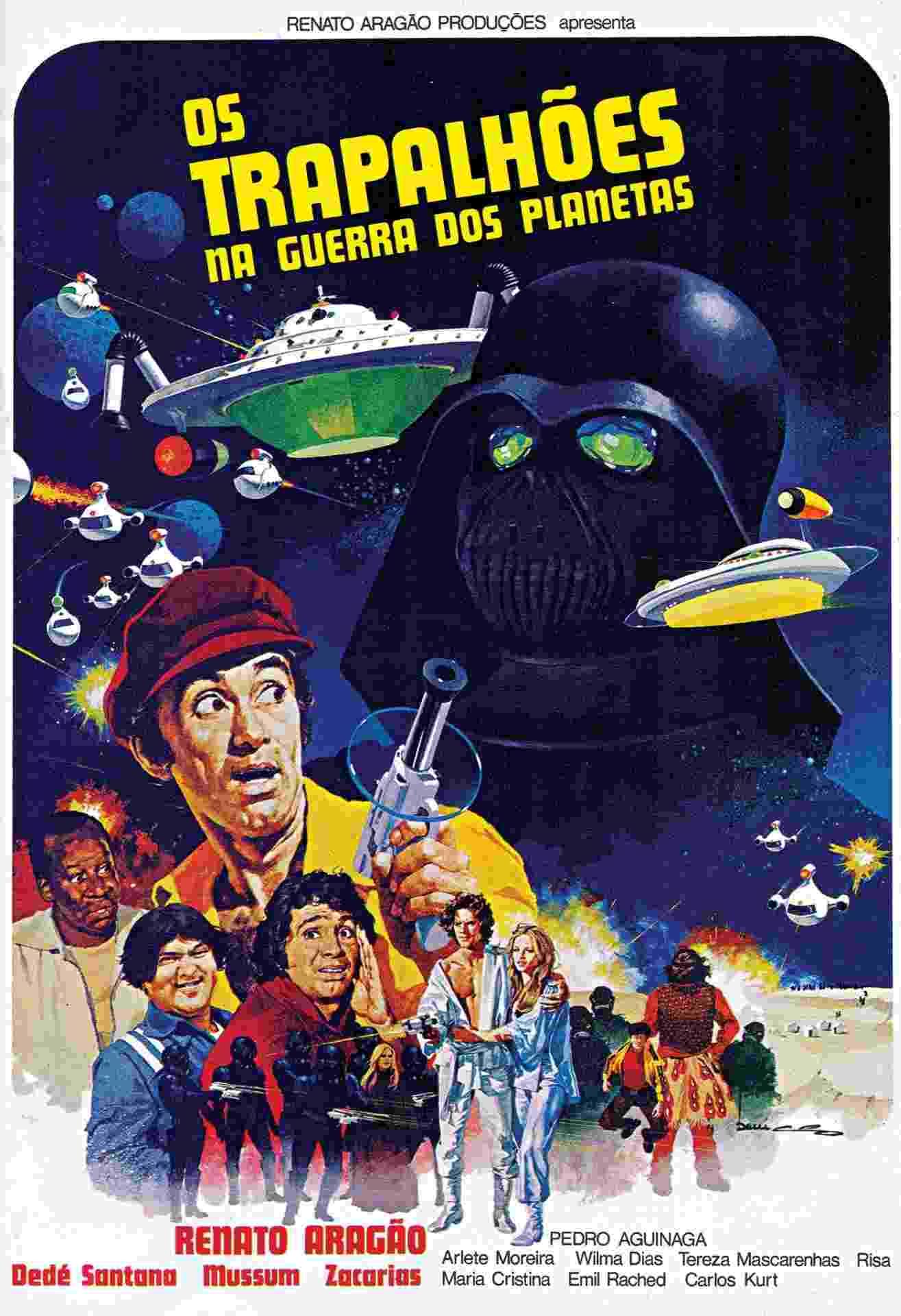"""""""Os Trapalhões na Guerra dos Planetas"""" foi o primeiro filme em que Didi, Dedé Santana, Mussum e Zacarias apareceram juntos, em 1978 - Divulgação"""