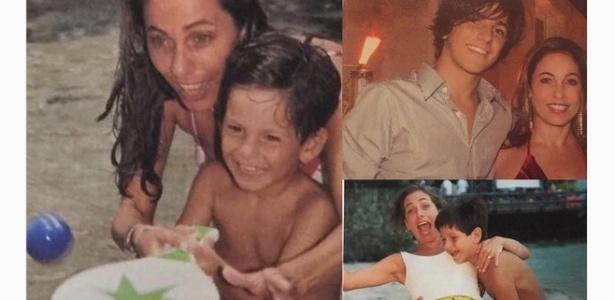 Cissa Guimarães publica fotos com o filho Rafael Mascarenhas, morto em 2010 - Reprodução/Instagram