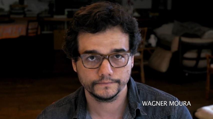 O ator Wagner Moura participa da campanha