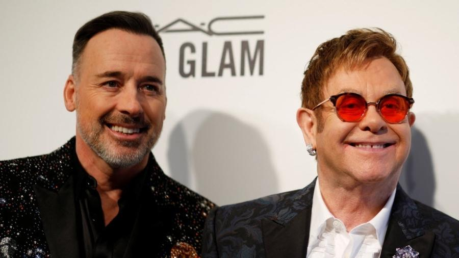 O casal David Furnish e Elton John - Brian Snyder/Reuters