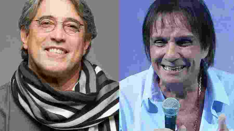 Ivan Lins e Roberto Carlos; parceria à vista? - Divulgação/AgNews