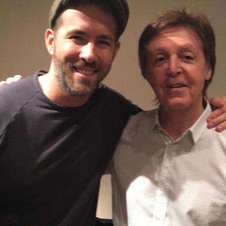 Ryan Reyniolds e Paul McCartney - Reprodução/Instagram