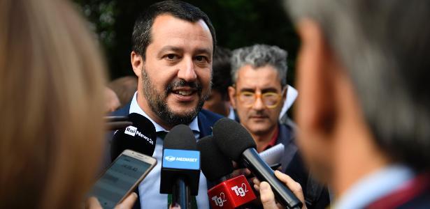 11.jul.2018 - ministro Matteo Salvini em entrevista; político será investigado - Getty Images