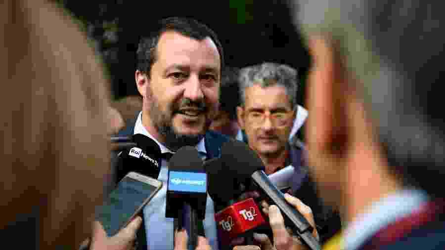 Matteo Salvini, ministro italiano do Interior - Getty Images