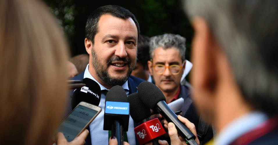 Matteo Salvini, ministro italiano do Interior