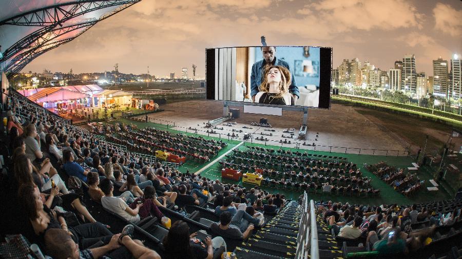 O evento com a maior tela de cinema do mundo foi realizado também em 2017 - Marcelo Paixão/Divulgação