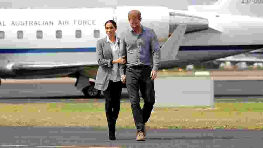 Meghan e Harry durante viagem à Austrália - Getty Images
