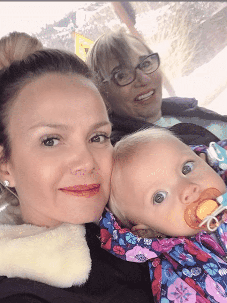 Eliana com a filha, Manuela, e a mãe, Eva - Reprodução/Instagram