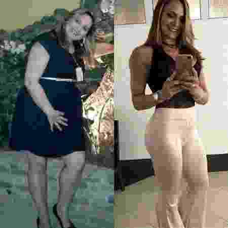 Patricia Antes e depois 3 - Arquivo pessoal - Arquivo pessoal