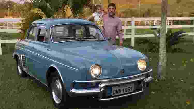 O fazendeiro Danilo Nunes comprou o Gordini 1967 há 43 anos; ele diz que só trocou o escapamento desde então - Arquivo pessoal