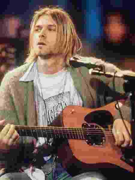 Kurt Cobain durante o MTV Unplugged do Nirvana - Getty Images