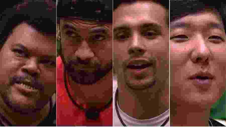 Babu, Hadson, Petrix e Pyong estão no paredão - Reprodução/TV Globo