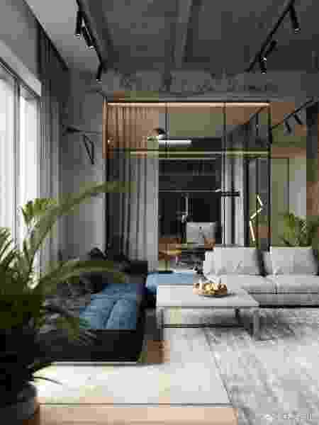Apartamento industrial - Reprodução/Pinterest - Reprodução/Pinterest
