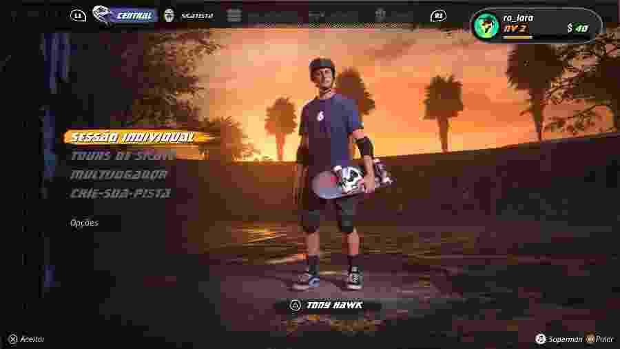 """Tony Hawk""""s Pro Skater 1+2 chega em 4 de setembro para PC, Xbox One e PS4 - Reprodução/Rodrigo Lara/START"""