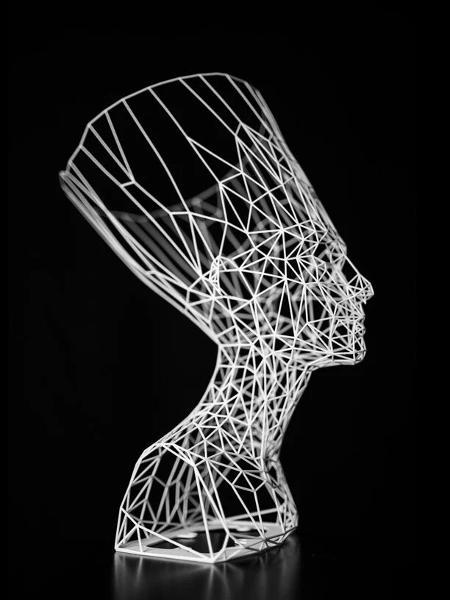 Modelo em 3D do Busto de Nefertiti - Titia Hahne - Titia Hahne