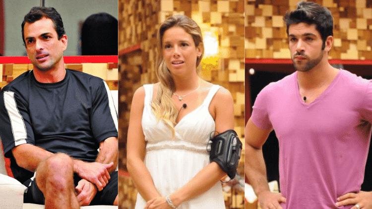 Dourado, Fernanda e Cadu no BBB 10 - Reprodução/TV Globo - Reprodução/TV Globo