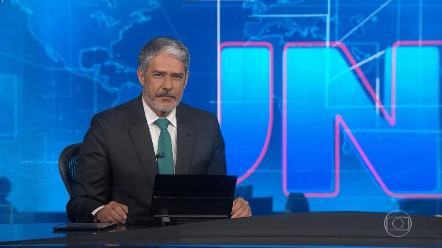 """Bonner diz que tem uma """"vaga lembrança"""" da estreia do telejornal, em 1969 - Reprodução/TV Globo"""