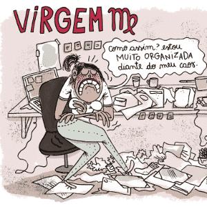 Charge Chiquinha - Virgem - Chiquinha