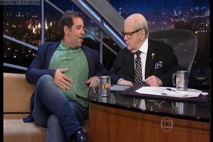 """6.nov.2015 - Em entrevista ao """"Programa do Jô"""", Leandro Hassum fala sobre a cirurgia de redução de estômago"""