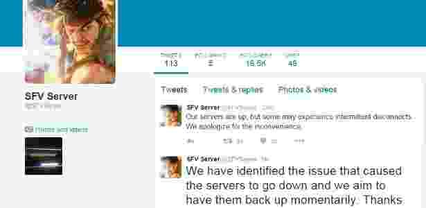 Twitter servidores Street Fighter V Capcom - Reprodução - Reprodução