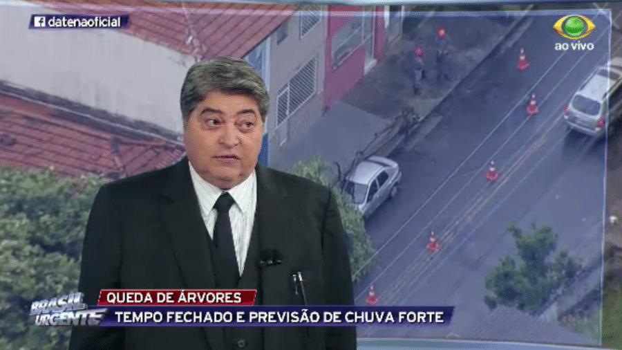 José Luiz Datena tirou a barba depois de oito dias - Reprodução/TV Bandeirantes