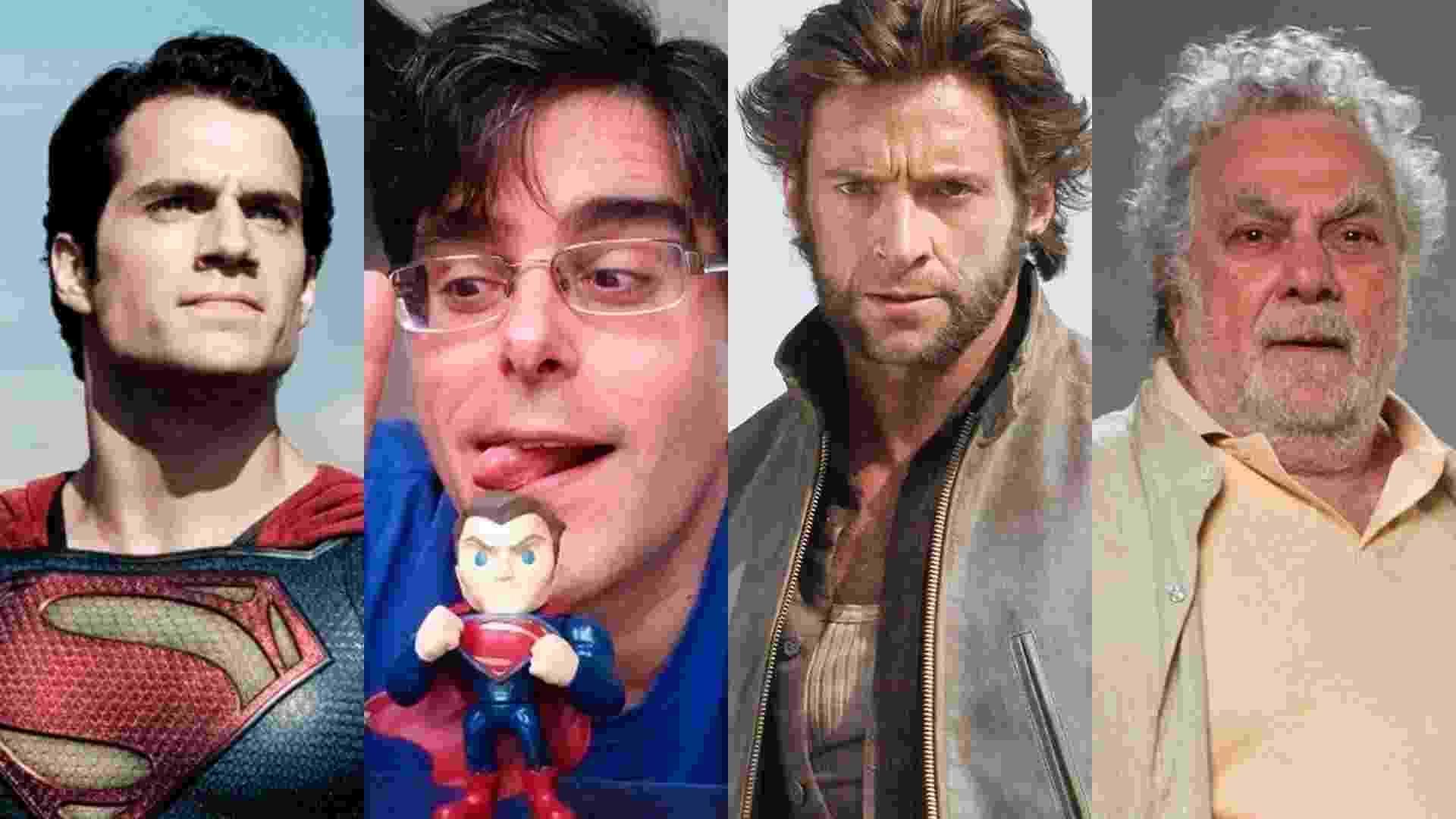 """Isaac Bardavid/Hugh Jackman - Cena do filme """"X-Men Origens: Wolverine"""" (2009), de Gavin Hood e Guilherme Briggs/Superman - Cena do filme """"O Homem de Aço"""" (2013), de Zack Snyder - Reprodução/Montagem"""