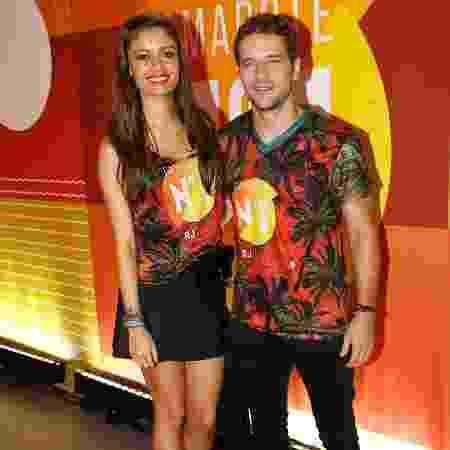 O casal de atores Sophie Charlotte e Daniel de Oliveira circularam por camarote na Sapucaí nesta segunda (27) - Divulgação/CamaroteN1
