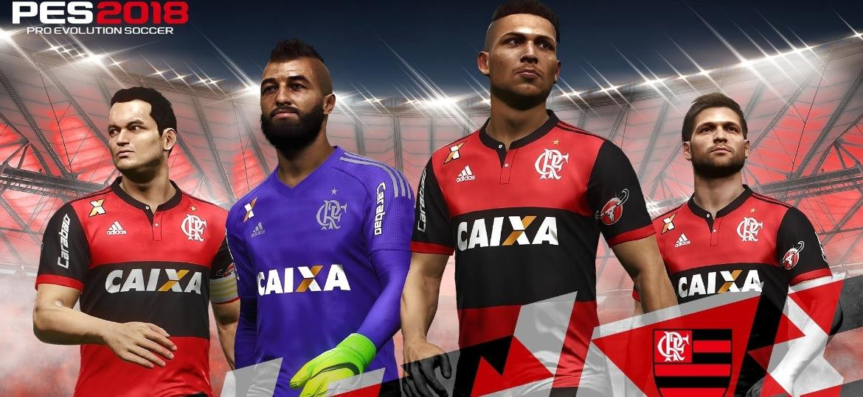 """Com um meio de campo bem forte, liderado por Diego, o Flamengo é o time brasileiro mais forte do """"PES 2018"""" - Divulgação"""